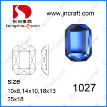 Dz-1027 Machine Cut Mirror Capri Blue Octagon Glass Beads for Jewelry