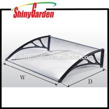 Billige Poly-Carbonat DIY Overhead Tür Balkon Fenster Outdoor Markise Canopy Patio