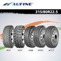 Aufine Radial Reboque Truck Pneu (385 / 65R22.5 com Reach, rotulagem)