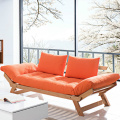 Three Seater Wooden Futon Lounger Sofa Bed
