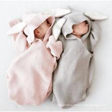 Rabbit Animal Customize Baby Blankets Newborn Knitted Blanket Kids Newborn Sleeping Bag