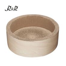 al por mayor pequeños suministros para mascotas cama cálida redonda donut cat cama RCS-8015