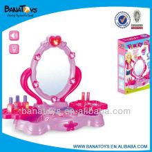 Pink brinquedo beleza dresser para menina com luz e som meninas brinquedos