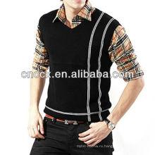12STC0671 универсальный свободного покроя дешевые мужчины свитер жилет