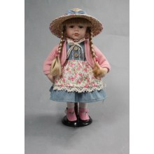 12 Inches Braid Girl Porcelain Dolls