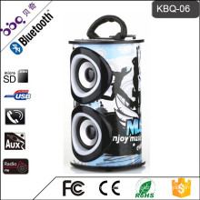 Karaoke Stereo Tower Speaker Vatop BQB certificate Wooden Speaker with two MIC port Wooden 2.0 Stereo System Speaker
