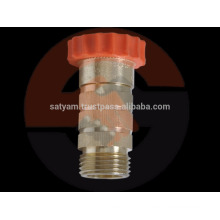 water pressure reducing valve in natural brass color