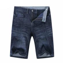 2017 hombres pantalones vaqueros pantalones cortos de moda Jeans pantalones cortos de mezclilla de algodón