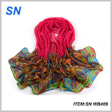 2015 China Scarf Yiwu Factory Digital Printed Shawl