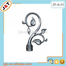 bathroom shower curtain rod set with decorative metal flower finials