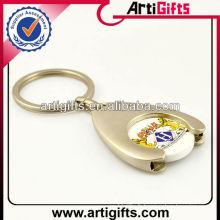Porte-clés porte-jetons en métal logo personnalisé mode