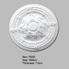 Medalhão de plafon de poliuretano