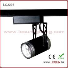 3 * 1W schwarze LED-Schienenleuchte für kommerzielle Beleuchtung (LC2203)