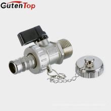 """LB Guten top Válvula de bola de unión de drenaje de latón forjado de 1/2 """"con conector de manguera y conjunto de tapón de orificio"""