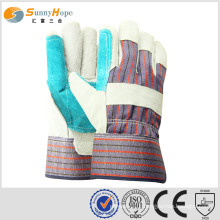 Cowhide split reinfored palm leather working glove