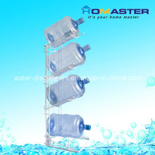 4 Tiers Foldable White 5 Gallon Portable Metal Water Bottle Rack (HBC-025)