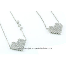 Hot Selling 925 Heart Set Sterling Silver Jewelry Set S3279