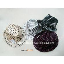 Mischen Farbe Polyester Baumwolle Fedora Hüte FÜR FÖRDERUNG billig schwarz