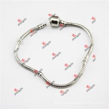 Factory Brass Snake Chain/Glass Bead Chain Jewelry Bracelet (DLL60226)