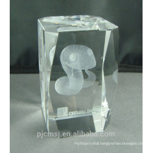 snake engraved 3D Laser crystal for home decoration gifts