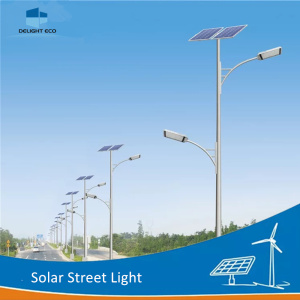 DELIGHT Single Arm Solar Post Lamp