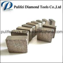 Segment de roche de coupe de granit pour la coupe abrasive de pierre de marbre