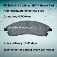 D1019 Bremsbelag für Cadillac SRX 2004-2009 F