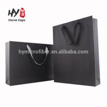 Bolso de compras grueso de cartulina blanca para promocionales