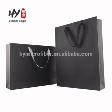 Thick white cardboard paper shopping bag for promotional