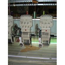Machine de broderie plate avec dispositif de cordonnets simples