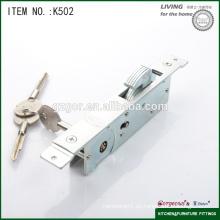 Cerradura de puerta corredera de madera de alta calidad con llave cruzada