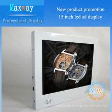 Moda blanca 15 pulgadas 4: 3 pantalla de visualización de publicidad