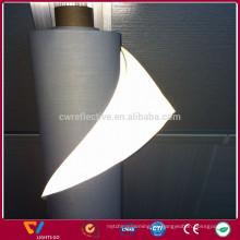 Tela 100% poliéster reflectante de alta visibilidad plata / negro