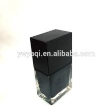 Lustrador de prego quadrado garrafa com tampa esmalte quadrada preta