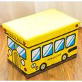 Taburete de autobús de dibujos animados de cuero de PU