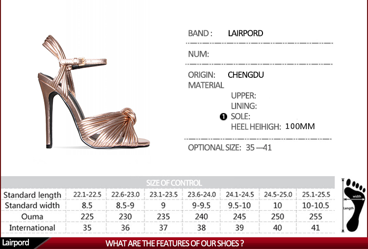 high heel fashion sandal shoe