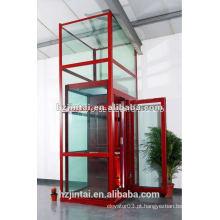 Pequeno, lar, vidro, panorâmico, casa, elevador, saída ...