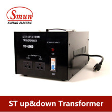 Single Phase 5000W Step Up Transformer De 110V a 220V / 240V