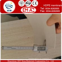 Membrana de HDPE negro en rollos para revestimiento impermeable