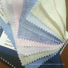 Tela de lino a rayas y cuadros 100 para camisa en stock