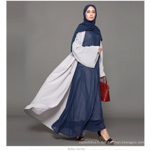 Marque designer marque oem fabricant de femmes robe islamique vêtements usine personnalisée robe abaya