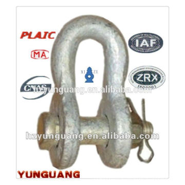 Hot-dip galvanized Steel Shackle overhead lines Accessories power pole line hardware fitting electric transmission line fitting