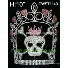 Grande couronne de tiare de concours de cristal de crâne