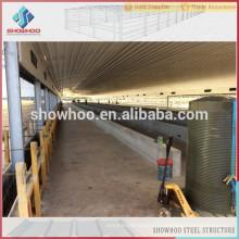 Showhoo billig Stahl Struktur Design Geflügel Schuppen Bau Design zum Verkauf