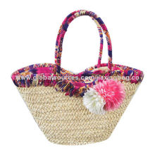 Crochet Paper Straw Handbag with PU Strap, Use of Goods, Houseware Goods, Promotional Gifts and More