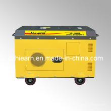 Dos Cilindros Tipo Silencioso Generador Diesel Color Amarillo (DG15000SE)