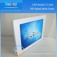 LED backlit 12 inch HD digital picture frame