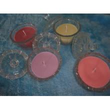 Роскошный стеклянный Опарник Надушенный подарок свечки с крышкой