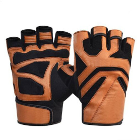 NEW design half finger leather gloves for sports