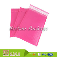 Water Resistant Self Adhesive Custom Bright Pink Color Print 4X8 Inches Poly Bubble Mailers